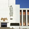Us Pavilion Left Entrance by David Halperin