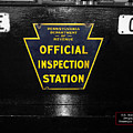 Us Route 66 Smaterjax Dwight Il Official Inspection Signage by Thomas Woolworth