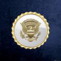 Vice Presidential Service Badge On Blue Velvet by Serge Averbukh