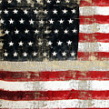 American Usa Flag Distressed  by Christina VanGinkel