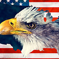 Usa Flag Eagle by Justyna JBJart