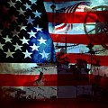 Usa Patriot Flag And War by Phill Petrovic