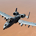 Usaf A-10 Thunderbolt II Over Afghanistan  by L Brown