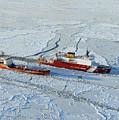 Uscg Healy Breaks Ice by Stocktrek Images