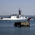 Uscgc Bertholf Underway In San Diego by Michael Wood