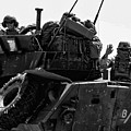 Usmc On The Move In A Lav-25 by Tommy Anderson