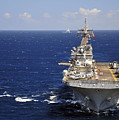 Uss Boxer Leads A Convoy Of Ships by Stocktrek Images