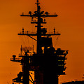 Uss Carl Vinson At Sunset 2 by Tommy Anderson