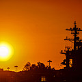 Uss Carl Vinson At Sunset 3 by Tommy Anderson