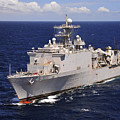 Uss Comstock Transits The Indian Ocean by Stocktrek Images