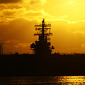 Uss Ronald Reagan by Linda Shafer