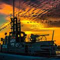 U.s.s. Silversides Sunset by Nick Zelinsky
