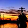 Uss Spruance Is Pierside At Naval by Stocktrek Images