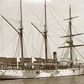 U S S Vicksburg Gunboat No. 11 1898 Havana Cuba Spanish American War 1898 by California Views Archives Mr Pat Hathaway Archives
