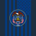 Utah State Flag Graphic Usa Styling by Garaga Designs