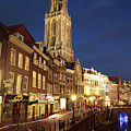 Utrecht Cathedral At Night by Neil Overy
