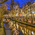 Utrecht Old Canal By Night by Frans Blok