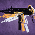 Uzi Sub Machine Gun on Purple by Michael Tompsett