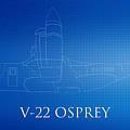 V-22 Osprey Blueprint by Brooke Roby