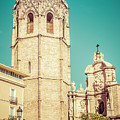 Valencia Spain Bell Tower And Cathedral by Joan Carroll