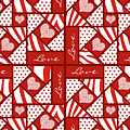 Valentine 4 Square Quilt Block by Methune Hively