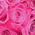 Valentine Bouquet Of Pink Roses by Andrea Kollo