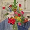Valentine Bouquet by Sharon  De Vore