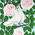 Valentine Doves by Marilyn Hilliard