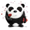 Valentine's Panda by Dana Alfonso