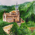 Valldemossa Pleine Air Painting Comp. by Lizzy Forrester