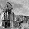 Valle Crucis Abbey Monochrome by Brainwave Pictures
