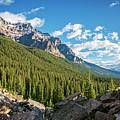 Valley Near Moraine Lake Banff by Joan Carroll