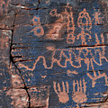 Valley Of Fire Petroglyph Wall by Kyle Hanson