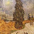 Van Gogh: Cypresses, 1889 by Granger