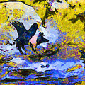 Van Gogh.s Flying Pig 3 by Wingsdomain Art and Photography