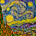 Van Gogh's 'starry Night' - Hdr by Randy Aveille