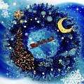 Van Gogh's Starry Night Wreath by Jose A Gonzalez Jr