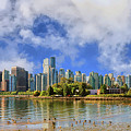 Vancouver Skyline Under The Morning Clouds by Ola Allen