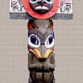 Vancouver Totem - 3 by Linda  Parker