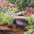 Vandusen Garden Iris Bridge by Laurie Hein