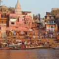 Varanasi From Ganges River by Aivar Mikko