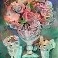 Vase Full Of Roses by Arline Wagner