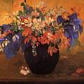 Vase Of Flowers 1896 by Gauguin Paul