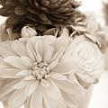 Vase Of Flowers In Sepia by Joni Eskridge