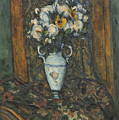 Vase Of Flowers by Paul Cezanne