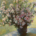 Vase Of Malva Flowers, 1880 by Claude Monet