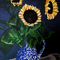 Vase Of Sunflowers by Art by Kar