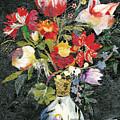 Vase With A Bird by Nira Schwartz