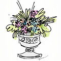Vase With Flowers by Yvonne Wright