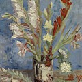 Vase With Gladioli And Chinese Asters Paris, August - September 1886 Vincent Van Gogh 1853  1890 by Artistic Panda
